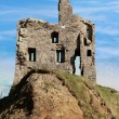 Ballybunion castle ruin on a beautiful rock face — Stock Photo