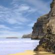 Ancient cliffs on the irish coast — Stock Photo