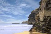 Antiguos acantilados en la costa irlandesa — Foto de Stock