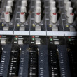 Stock Photo: Sound editing console