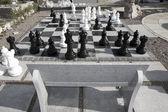 Giant chess game — Stock Photo