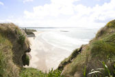 Wide view from the top of the cliffs in Ballybunion — Stock Photo