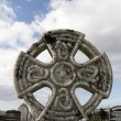 Stock Photo: Ancient celtic cross against in Irish cemetary