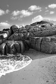 Rocky beach in county Donegal — Foto Stock
