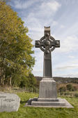 Memorial celtic cross in honor of saint colomba — Stok fotoğraf