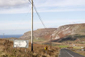 Road to Gleann Colm Cille, Ireland — Stock Photo