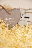 Loveing houten harten — Stockfoto