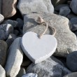 Love heart on the rocks — Stock Photo