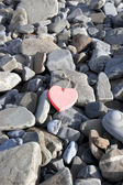 Red hot love on the rocks — Stock Photo