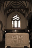 Alter in the chapel of Holycross abbey — Stock Photo