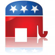 Republican Party icon - Stock Vector