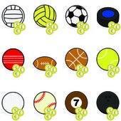 Sports betting icons — Stock Vector