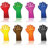 Colorful hands — Stock Vector