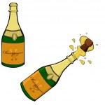 Champagne bottle — Stock Vector