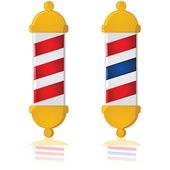 Barber pole — Stock Vector