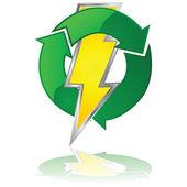Reusable energy — Stock Vector