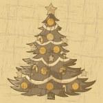 Vintage Christmas tree — Stock Vector #14881457