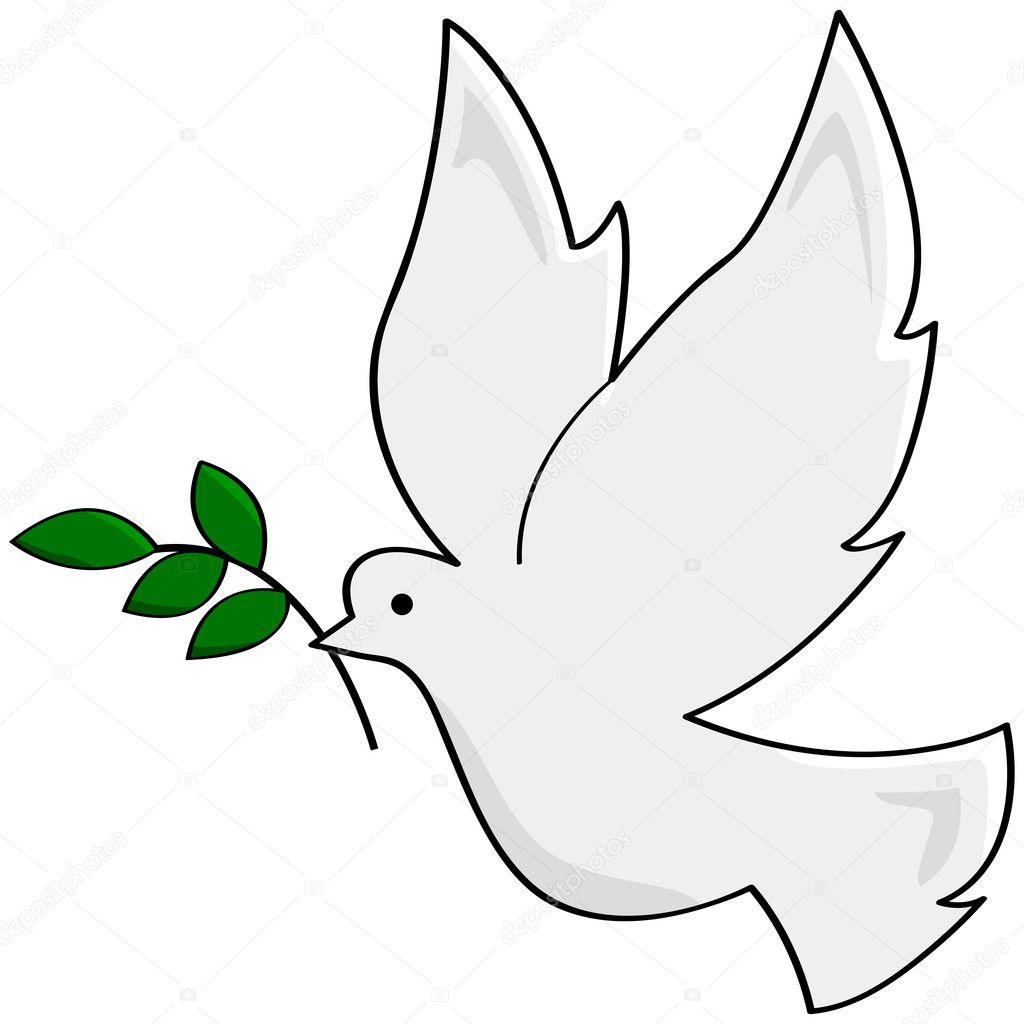How To Draw Peace Dove
