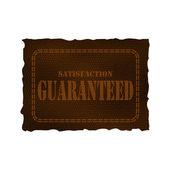 Deri yama - memnuniyet garantisi — Stok Vektör