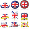 United Kingdom badges — Stock Vector