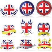 United Kingdom badges — Stock Vector