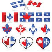Canadá y quebec — Vector de stock