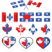 Canada and Quebec — Vector de stock