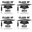 Class of 2013 to 2016 — Vector de stock #16191179