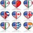USA divided love - Stock Vector