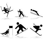 Snow sports — Stock Vector