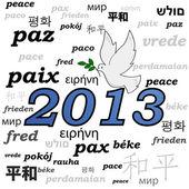 2013 peace — Stock Vector