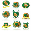 Royalty-Free Stock Vector Image: Football badges