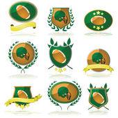 Football badges — Stock Vector