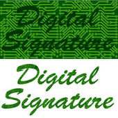 Digital signature — Stock Vector