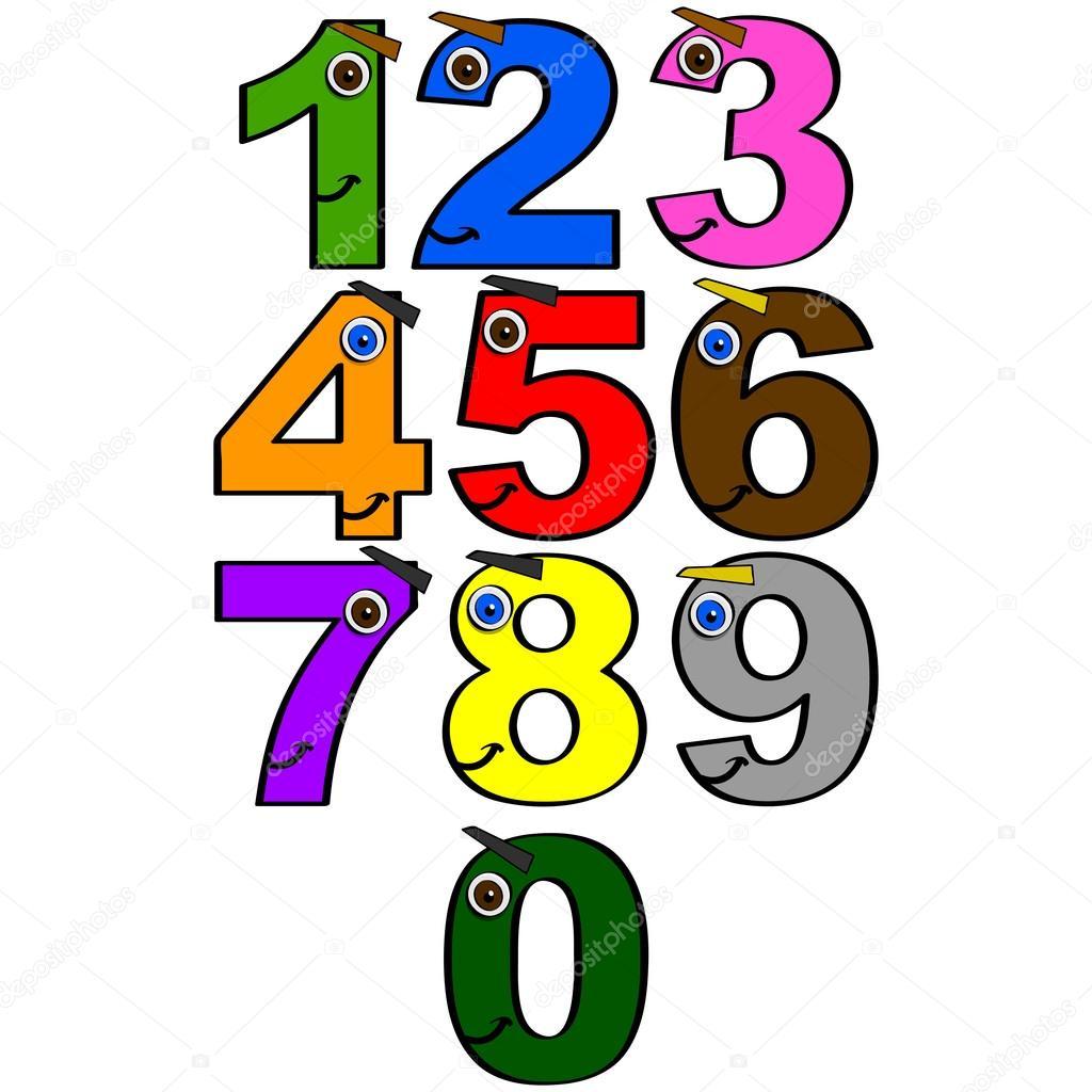 快乐的数字 — 图库矢量图片 #17215561
