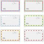Air mail envelopes — Stock Vector