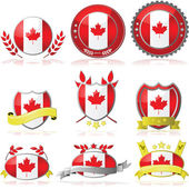 Canada badges — Stock vektor