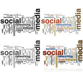 Les médias sociaux nuage — Vecteur