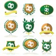 Stock Vector: Soccer badges