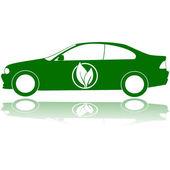 Groene auto — Stockvector
