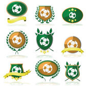 Soccer badges — Stock Vector