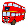 Stock Vector: Happy cartoon bus