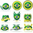 Brazil badges — Stock Vector