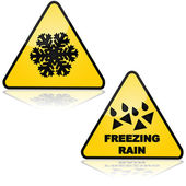 Snow and freezing rain — Stock Vector