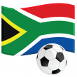 South Africa soccer — Stock Vector