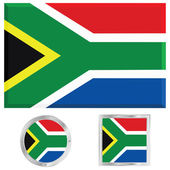 South Africa flag — Stock Vector