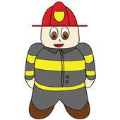 Cartoon brandweerman — Stockvector