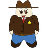 Cartoon sheriff — Stock Vector