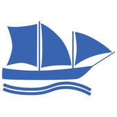 Segelbåt — Stockvektor