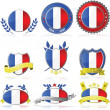 France badges — Stock Vector